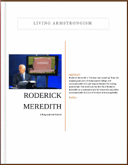 Roderick Meredith Biographical Sketch