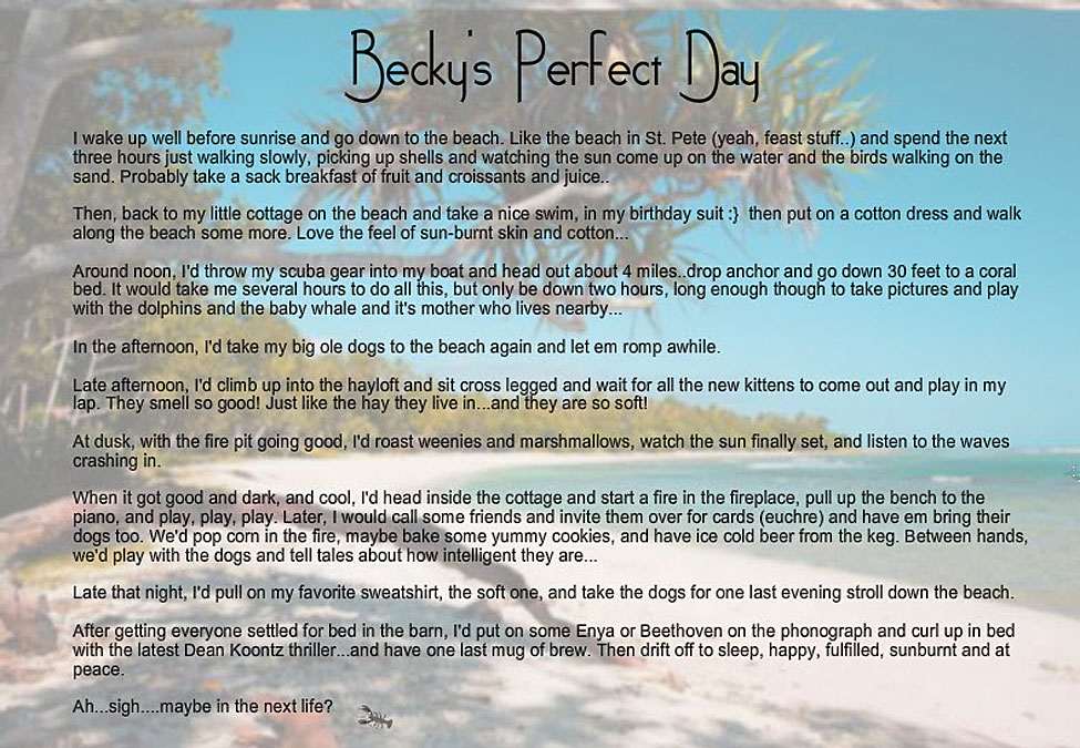 Becky's Perfect Day