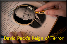 David Pack�s Reign of Terror